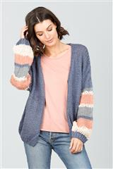 BRAVE + TRUE DENIM STRIPE CASSIDY CARDIGAN