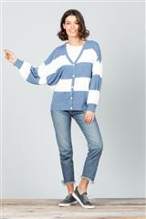 BRAVE + TRUE STRIPED TURNER CARDIGAN