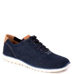HUSH PUPPIES NAVY TRICIA LACE-UP