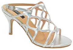 STACCATO SILVER SANDAL HEEL