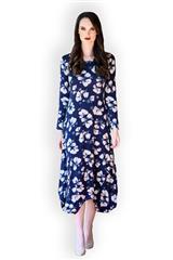 MASTIK BLUE FLORAL DRESS