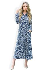 MASTIK NAVY DAISY BUTTON DOWN DRESS