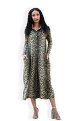 MASTIK ANIMAL PRINT LONG SLEEVED DRESS