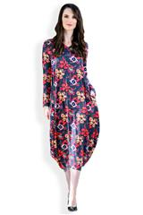 MASTIK FLORAL MULTICOLOUR TULIP DRESS