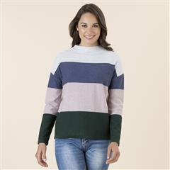 GORDON SMITH MULTI COLOUR  BLOCK SWEATER