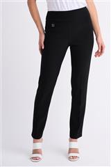 JOSEPH RIBKOFF BLACK CONTOUR SLIM FIT PANTS