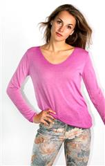 MADE IN ITALY PURPLE FADED LONG SLEEVE TOP