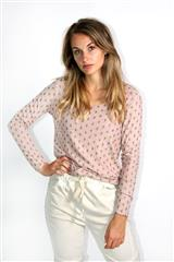 MADE IN ITALY PINK DIAMOND DETAIL TOP