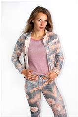 MADE IN ITALY PINK AUTUMN FLORAL REVERSIBLE JACKET