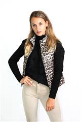 MADE IN ITALY LEOPARD PUFFER GILET