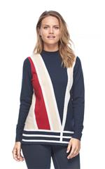 FRENCH DRESSING JEANS MULTICOLOUR COLOUR BLOCK JERSEY
