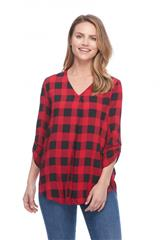 FRENCH DRESSING JEANS CHECKED BLOUSE