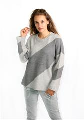 TOP VOGUE GREY SWEATER KNIT