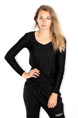 MADE IN ITALY BLACK DIAMOND DETAIL TOP