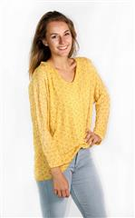 MADE IN ITALY YELLOW GOLD FOIL PRINT TOP