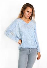 MADE IN ITALY LIGHT BLUE GOLD DETAIL TOP