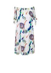 MII PRINTED DRESS - WHTMU