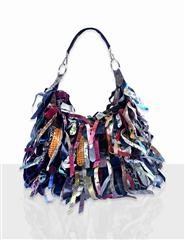 JOLIE LEATHER MULTI COLOUR STRIP HANDBAG