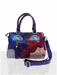 JOLIE LEATHER MULTI COLOUR PATTERN HANDBAG