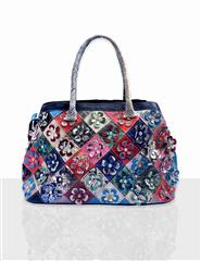 JOLIE LEATHER FLOWER MULTI COLOUR HANDBAG