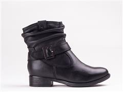 FROGGIE BLACK LEA TUSCANA BOOT- 12017
