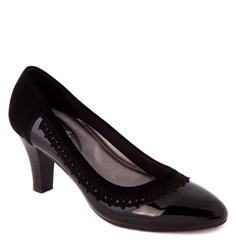 SOFT STYLE BLACK EBONY COURT SHOE