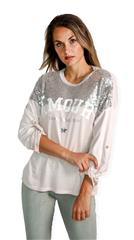 MADE IN ITALY LIGHT PINK AMOUR SEQUINS TOP