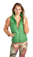 MADE IN ITALY GREEN REVERSIBLE PUFFER GILET
