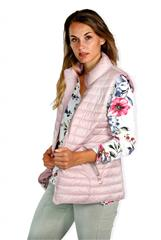MADE IN ITALY PINK REVERSIBLE PUFFER GILET