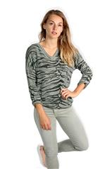 MADE IN ITALY GREEN TIGER PRINT TOP
