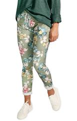 MADE IN ITALY GREEN MULTI FLORAL PANTS