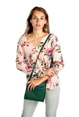 MADE IN ITALY PINK FLORAL LONG SLEEVE TOP