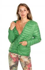 MADE IN ITALY GREEN PUFFER JACKET