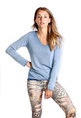 MADE IN ITALY NAVY LONG SLEEVED TOP