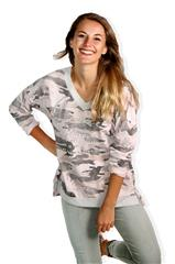 MADE IN ITALY ARMY PINK LONG SLEEVED TOP