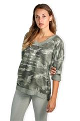 MADE IN ITALY ARMY GREEN LONG SLEEVED TOP