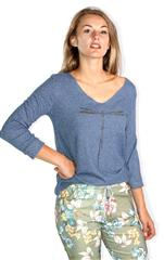 MADE IN ITALY BLUE DRAGONFLY TOP