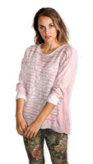 MADE IN ITALY PINK STRIPE DETAIL TOP