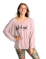 MADE IN ITALY PINK OVERSIZED WEEKEND PRINT TOP