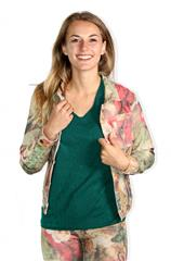 MADE IN ITALY STONE FLORAL REVERSIBLE JACKET