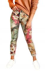 MADE IN ITALY STONE FLORAL REVERSIBLE JEANS