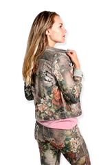 MADE IN ITALY SAGE FLORAL REVERSIBLE JACKET