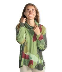 MADE IN ITALY GREEN MULTI COLOUR SPLASH TOP