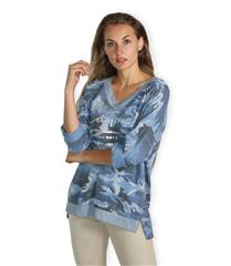 MADE IN ITALY ARMY BLUE LONG SLEEVED TOP