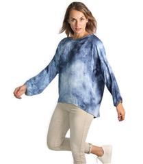 MADE IN ITALY BLUE TIE DYE BLOUSE
