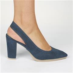BUTTERFLY FEET NAVY SLING BACK SALUTE HIGH HEEL