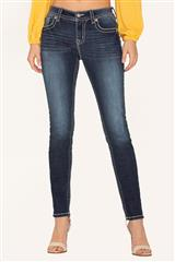 MISS ME BLUE WILD THING SKINNY JEANS