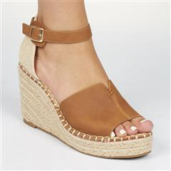 MISS BLACK TAN LETABA WOVEN WEDGE SANDAL