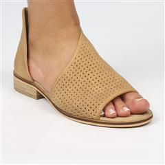 MISS BLACK TAN MICAH2 CUT OUT SLIP ON