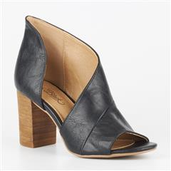 MISS BLACK BLACK TINOS CUT OUT BLOCK HEEL